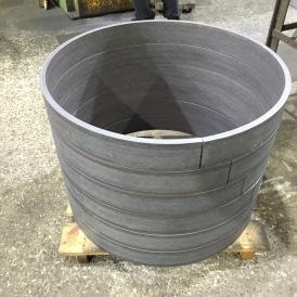 J. Thomas, LTD. - Custom 30inch Manhole Riser Ring - Before Coating