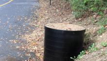 J. Thomas, LTD. - Custom 30inch Manhole Riser Ring Installation - Side View