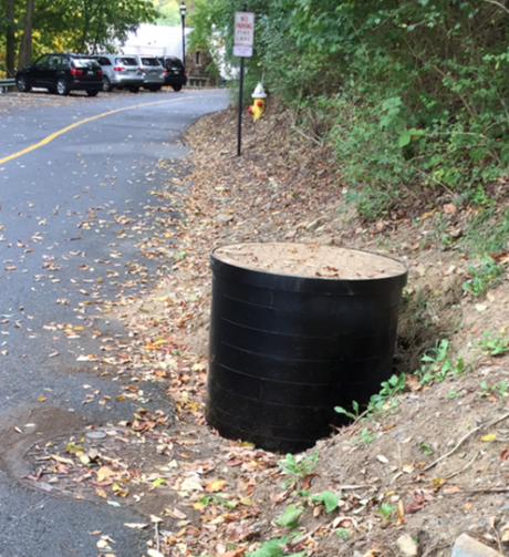 J. Thomas, LTD. - Custom 30inch Manhole Riser Ring Installation - Side View